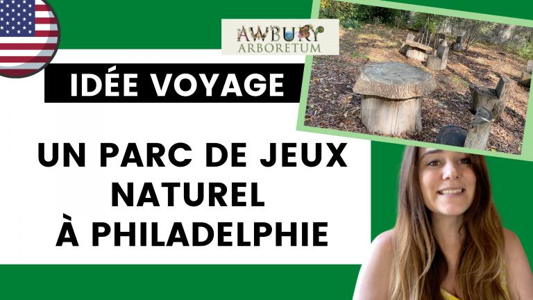 Adventure wood : le parc de jeux naturel à Awbury Arboretum